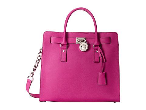MICHAEL Michael Kors - Hamilton Large Ns Tote (Fuchsia) Tote Handbags