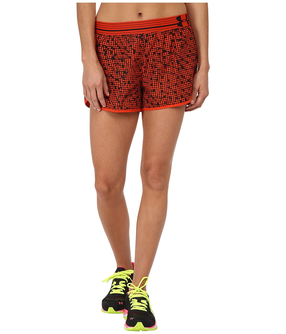 Under Armour - UA Printed Perfect Pace Short (Dark Orange/Dark Orange/Reflective) Women's Shorts