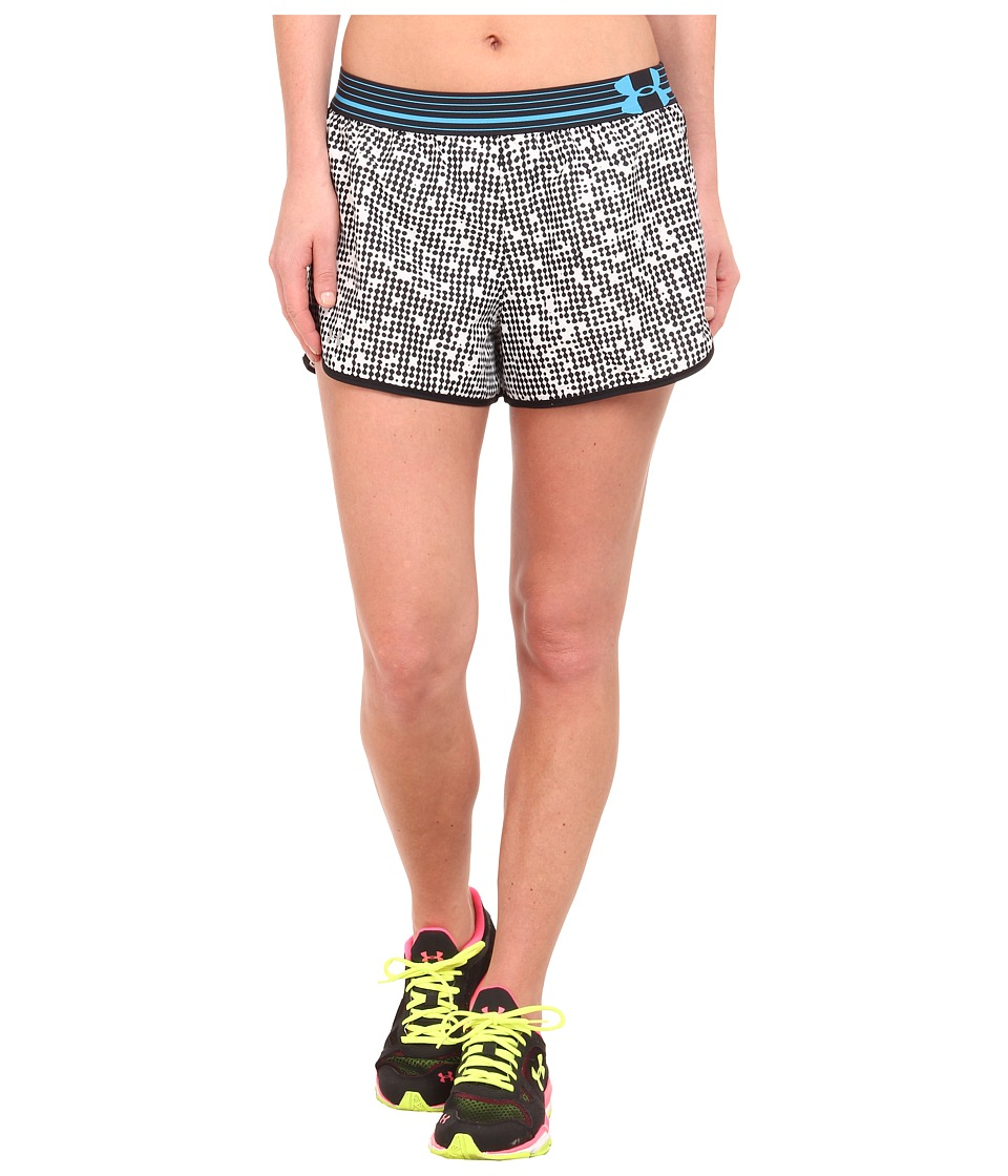 Under Armour - UA Printed Perfect Pace Short (Black/White/Reflective/Pattern) Women's Shorts