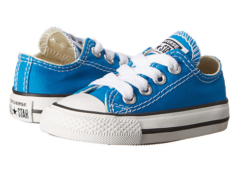 Converse Kids - Chuck Taylor All Star Ox (Infant/Toddler) (Cyan Space) Kids Shoes