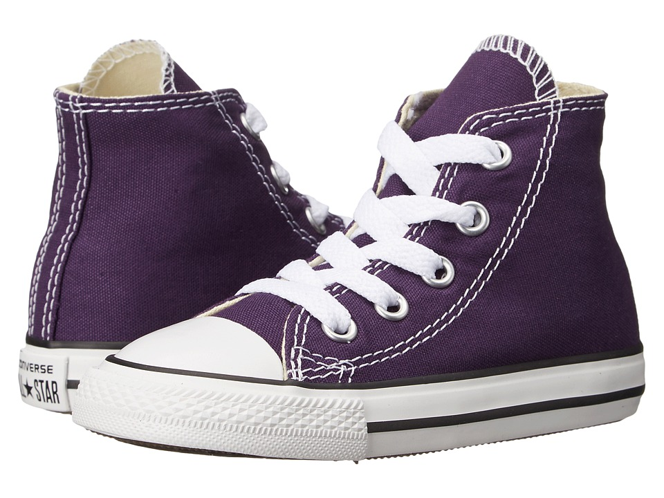 Converse Kids - Chuck Taylor All Star Hi (Infant/Toddler) (Eggplant Peel) Girls Shoes