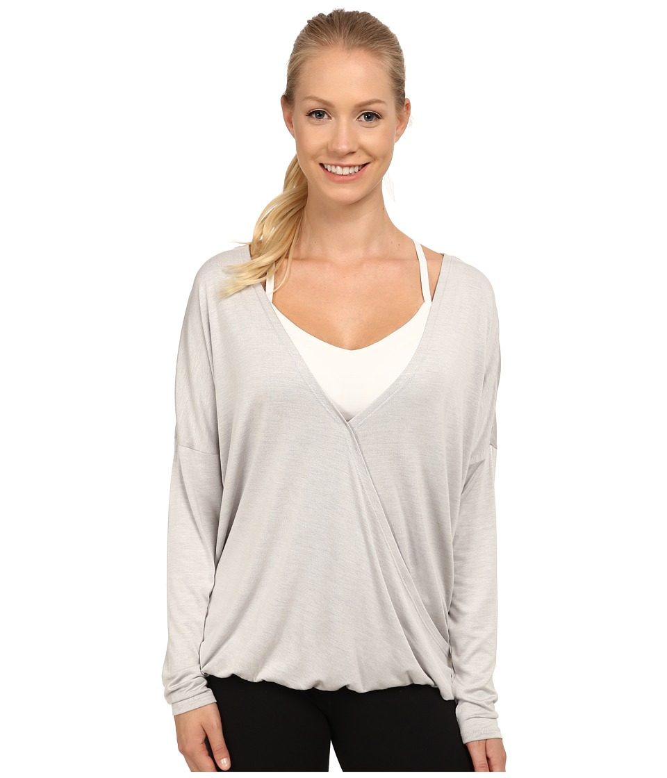 Lole - Abella Top (Warm Grey Heather) Women's Long Sleeve Pullover