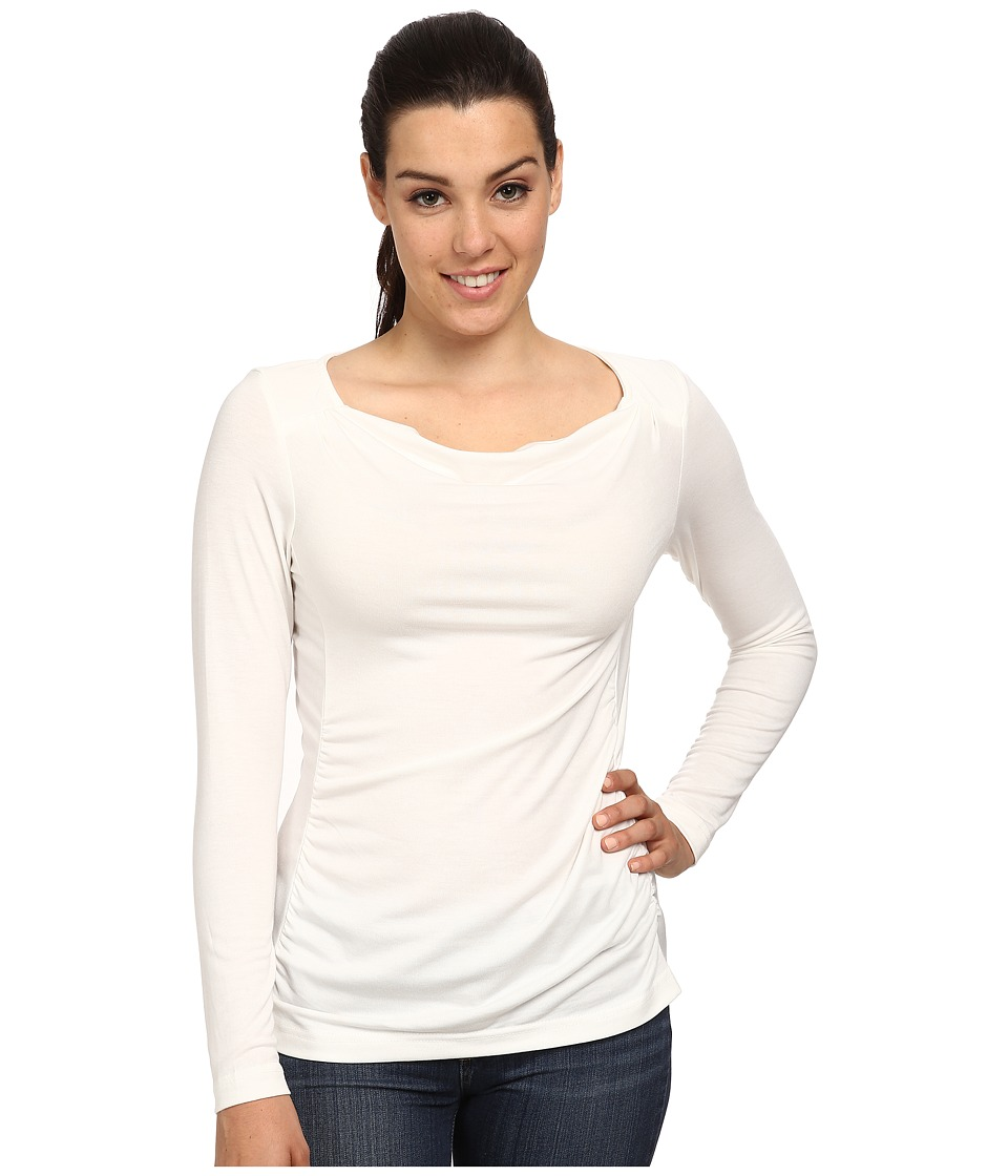 Royal Robbins - Essential Tencel Cowl Neck (Cr me) Women's Long Sleeve Pullover