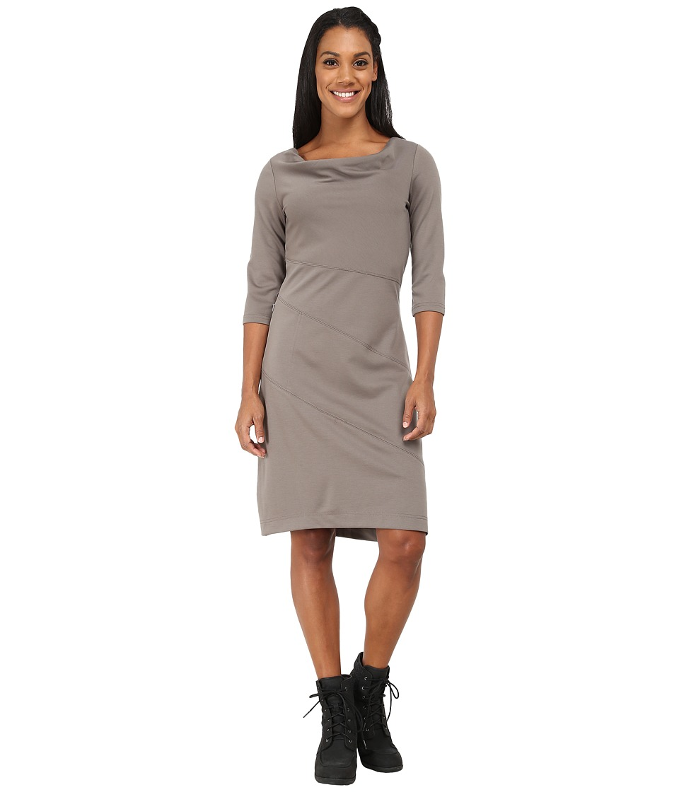 Royal Robbins Ponte 3/4 Sleeve Dress (Taupe) Women