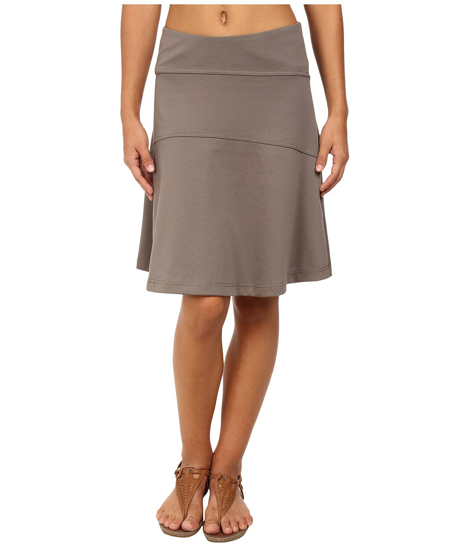 Royal Robbins Ponte Travel Skirt (Taupe) Women
