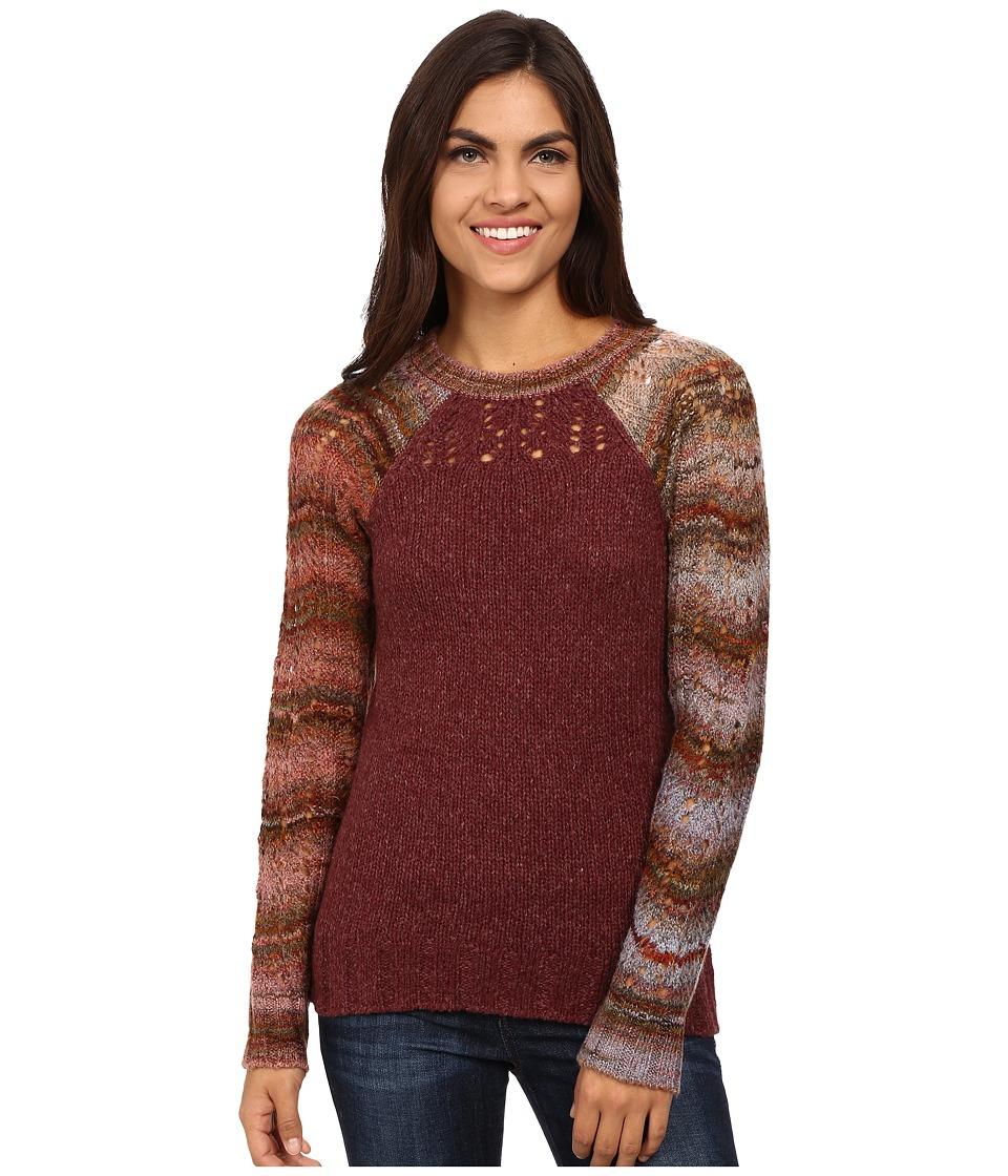Royal Robbins - Helium Crew Neck Sweater (Bordeaux) Women's Sweater