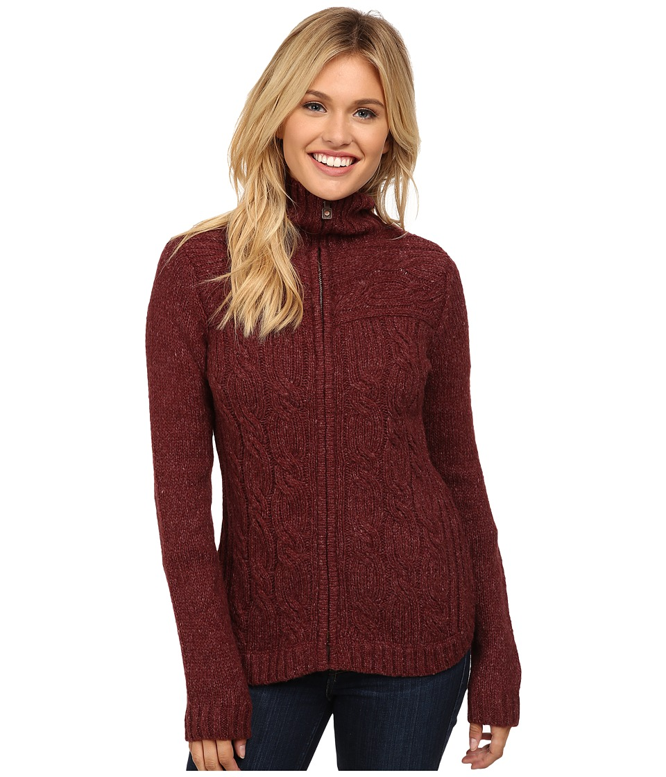 Royal Robbins - Helium Zip Cardigan (Bordeaux) Women's Sweater