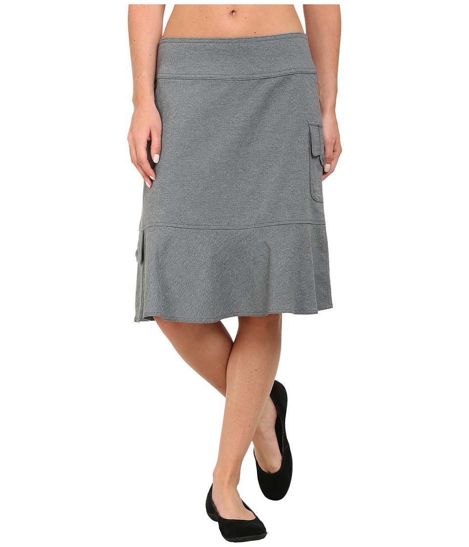 Royal Robbins - Herringbone Discovery Knee Length Skirt (Pewter) Women's Skirt