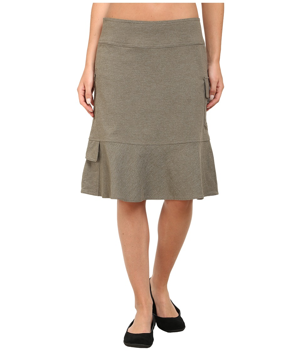 Royal Robbins - Herringbone Discovery Knee Length Skirt (Everglade) Women's Skirt