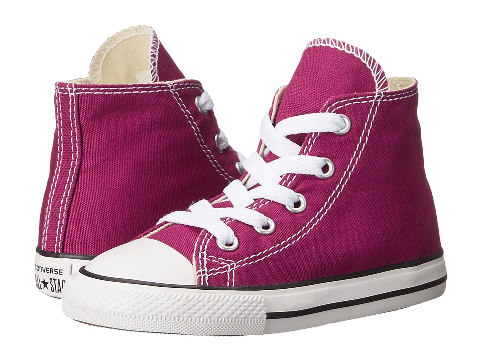 Converse Kids - Chuck Taylor All Star Hi (Infant/Toddler) (Pink Sapphire) Girls Shoes