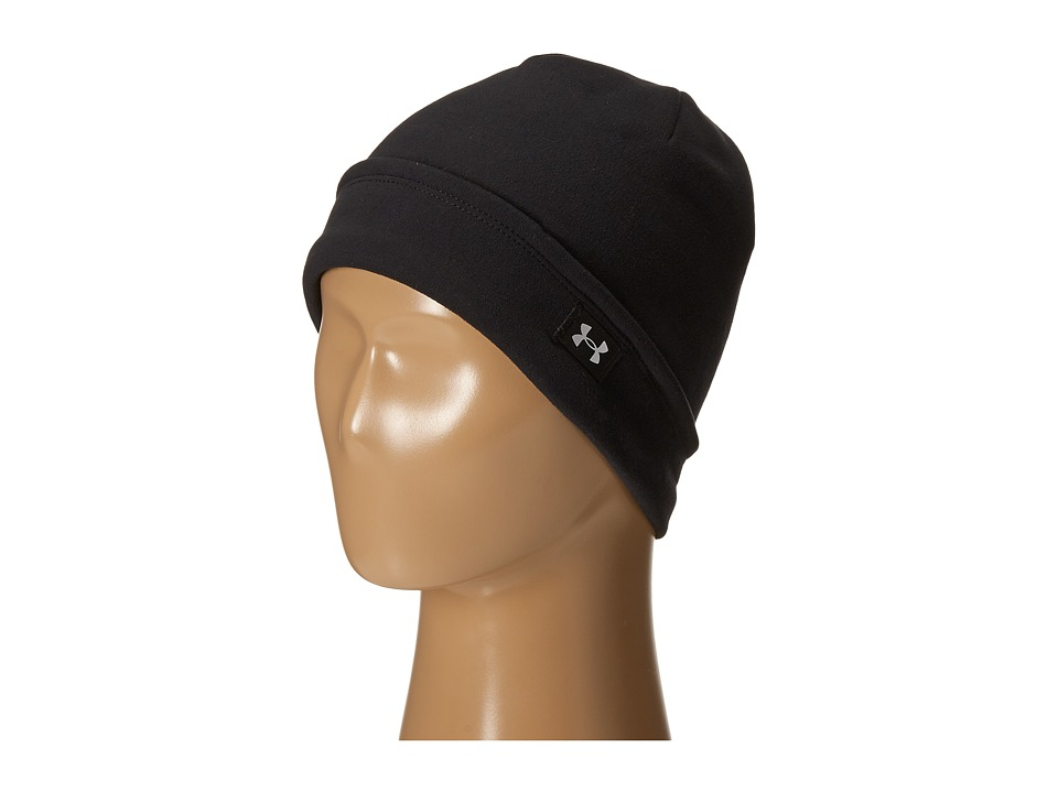 Under Armour - UA Storm(r) Coldgear(r) Infrared Fleece Beanie (Youth) (Black/Metallic Silver) Beanies