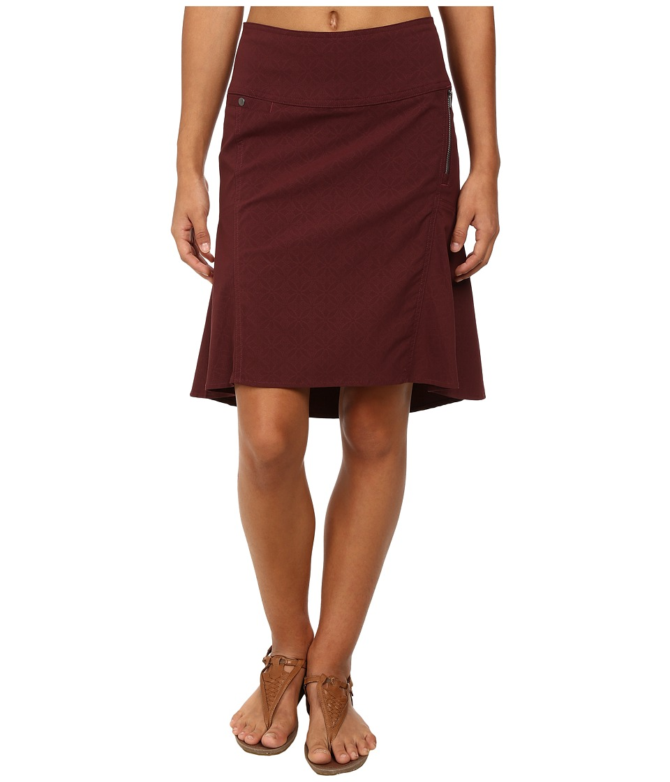 Royal Robbins - Embossed Discovery Strider Skirt (Bordeaux) Women