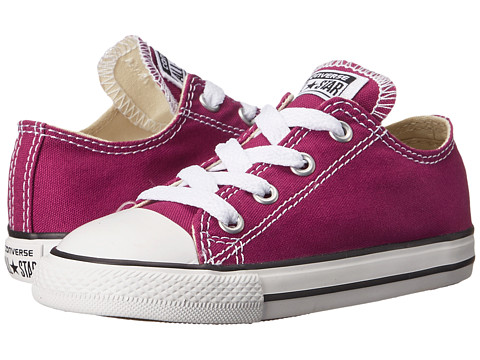 Converse Kids - Chuck Taylor All Star Ox (Infant/Toddler) (Pink Sapphire) Girls Shoes