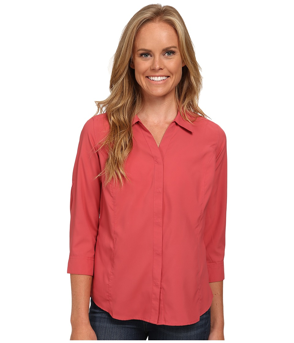 Royal Robbins Expedition Stretch 3/4 Sleeve (Dixie Rose) Women