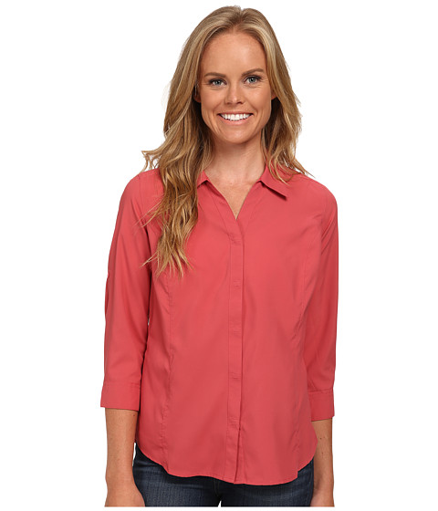 Royal Robbins - Expedition Stretch 3/4 Sleeve (Dixie Rose) Women's Long Sleeve Button Up
