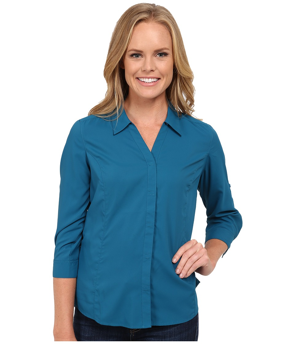 Royal Robbins Expedition Stretch 3/4 Sleeve (Peacock) Women