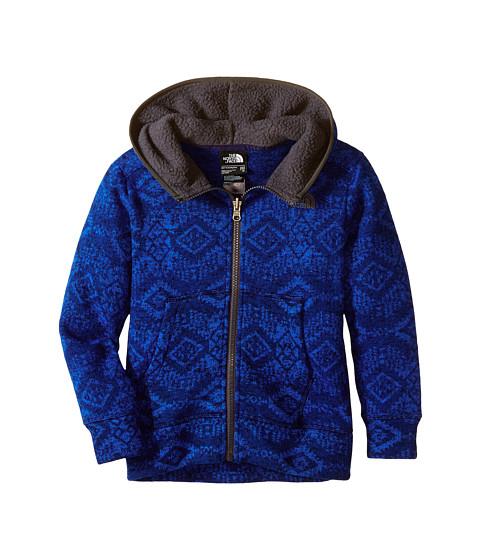 The North Face Kids - Mayar Sweater Fleece Hoodie (Little Kids/Big Kids) (Monster Blue) Boy