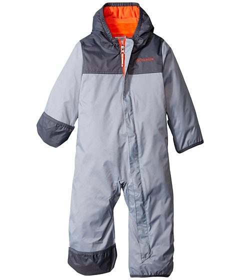 Columbia Kids - Bugababy Interchange Bunting (Infant) (Tradewinds Grey/Graphite/Tangy Orange) Kid's Jumpsuit & Rompers One Piece