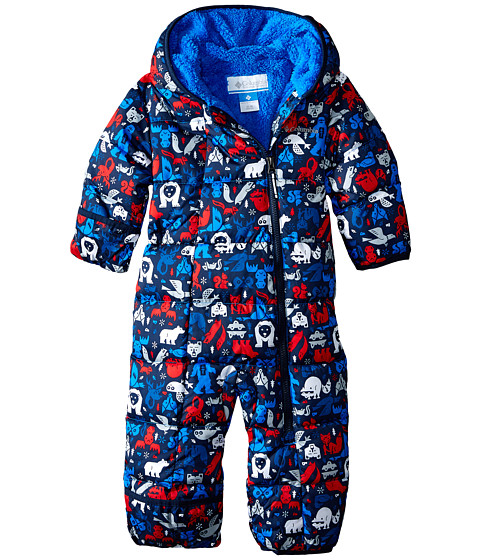 Columbia Kids - Frosty Freeze Bunting (Infant) (Collegiate Navy Print/Bright Red) Kid