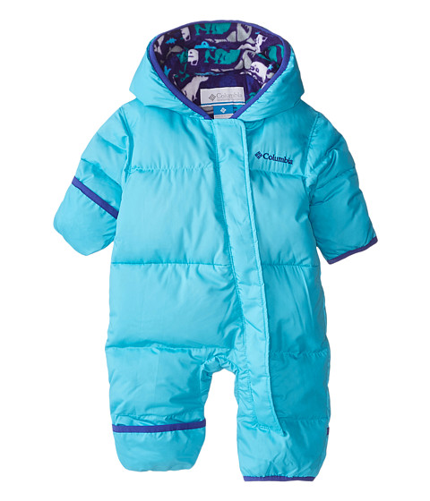 Columbia Kids - Snuggly Bunny Bunting (Infant) (Atoll/Light Grape Print) Kid's Jumpsuit & Rompers One Piece