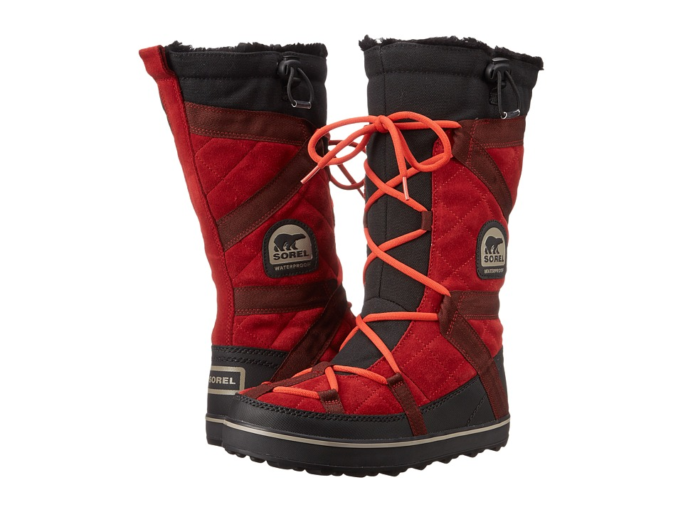 SOREL - Glacy Explorer (Red Dahlia) Women