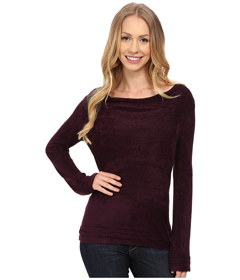 Royal Robbins - Voyage Long Sleeve Cowl Top (Blackberry) Women's Long Sleeve Pullover
