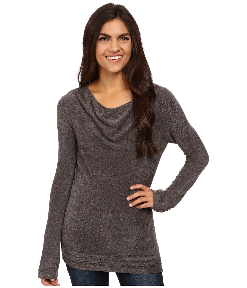 Royal Robbins - Voyage Long Sleeve Cowl Top (Pewter) Women's Long Sleeve Pullover