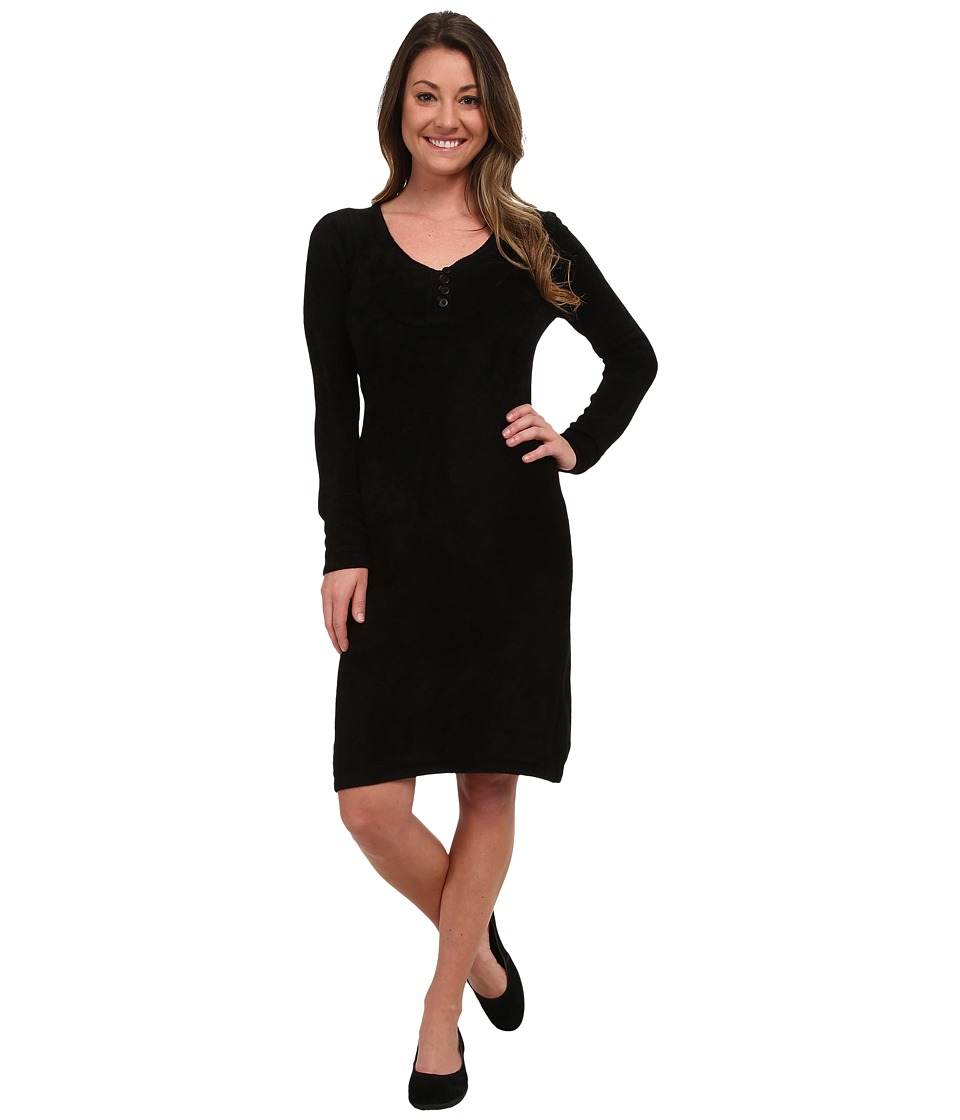 Royal Robbins Voyage Long Sleeve Dress (Jet Black) Women