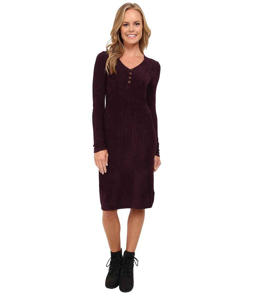 Royal Robbins Voyage Long Sleeve Dress (Blackberry) Women