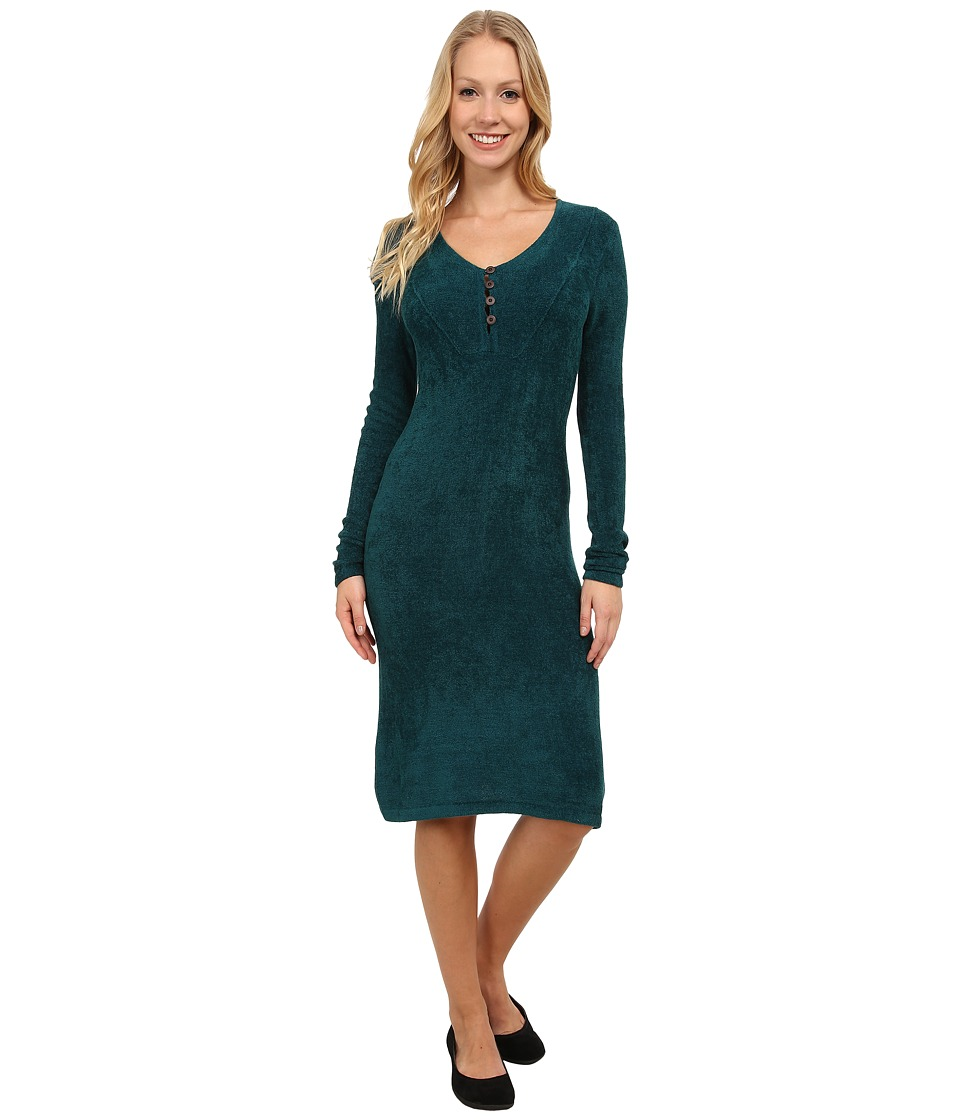 Royal Robbins Voyage Long Sleeve Dress (Deep Teal) Women