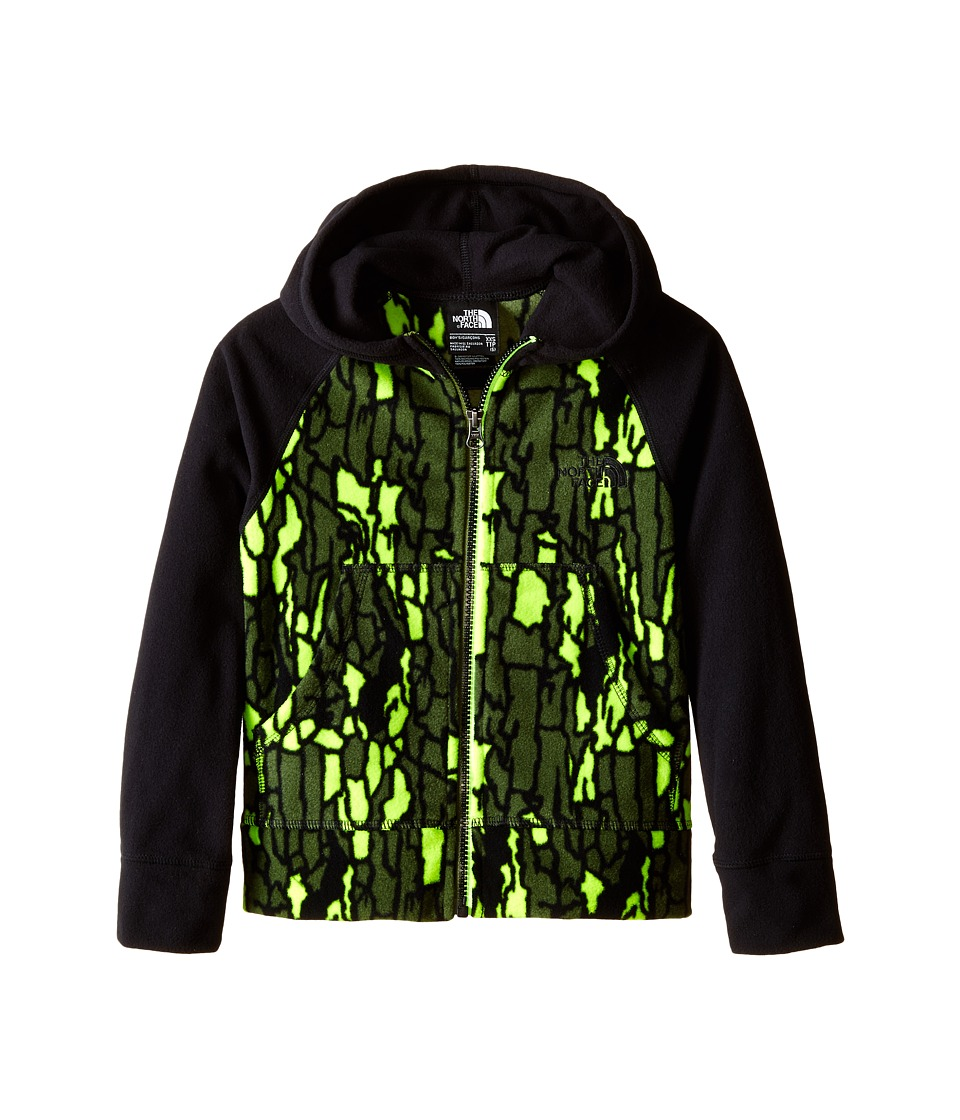 The North Face Kids - Glacier Full Zip Hoodie (Little Kids/Big Kids) (TNF Black/Tree Bark Camo) Boy