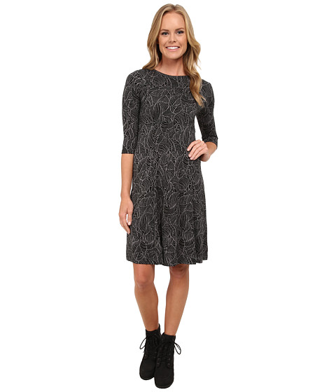 Royal Robbins - Belle Epoque 3/4 Sleeve Dress (Jet Black) Women's Dress
