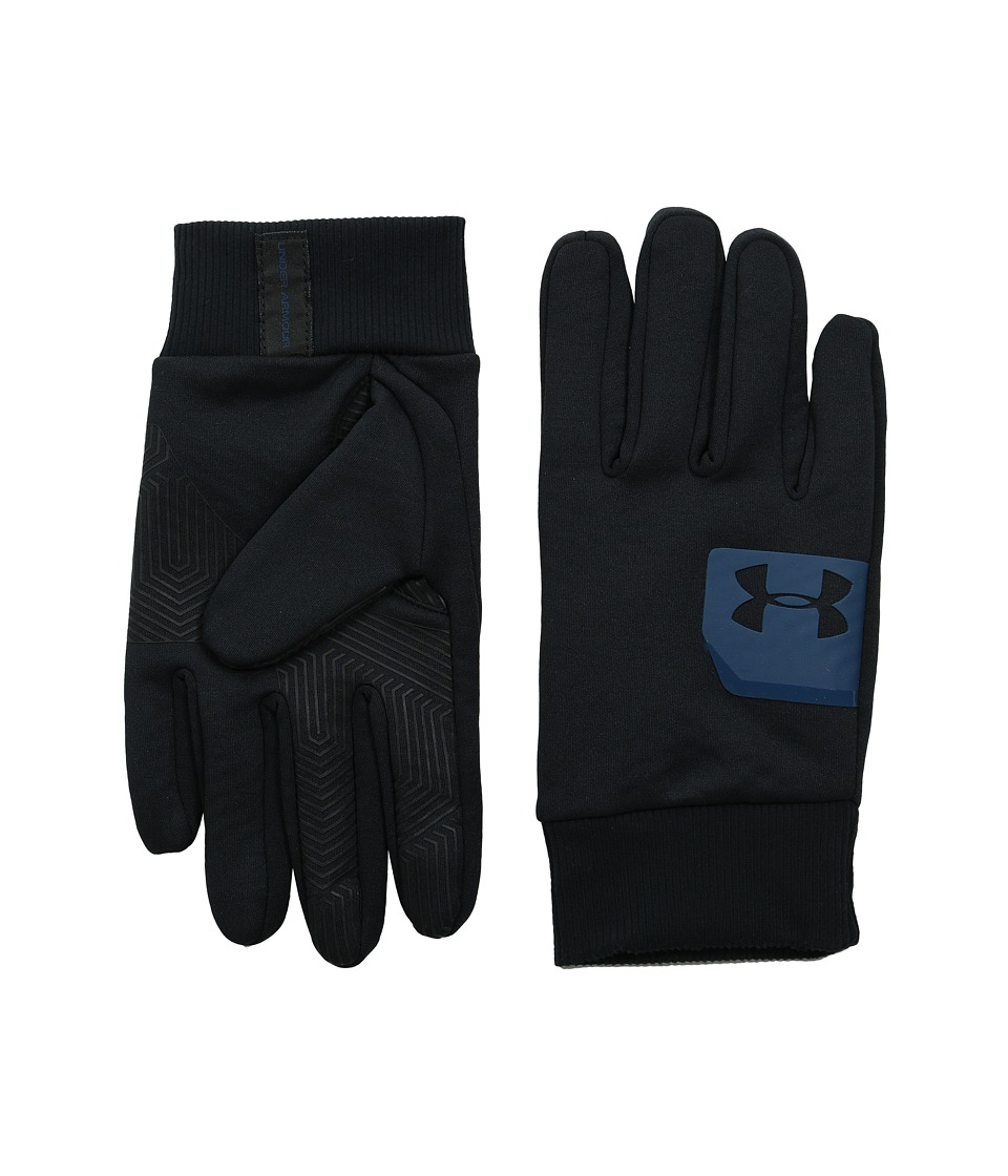 Under Armour - UA Core Coldgear(r) Infrared Core Fleece (Black/Petrol Blue/Black) Extreme Cold Weather Gloves
