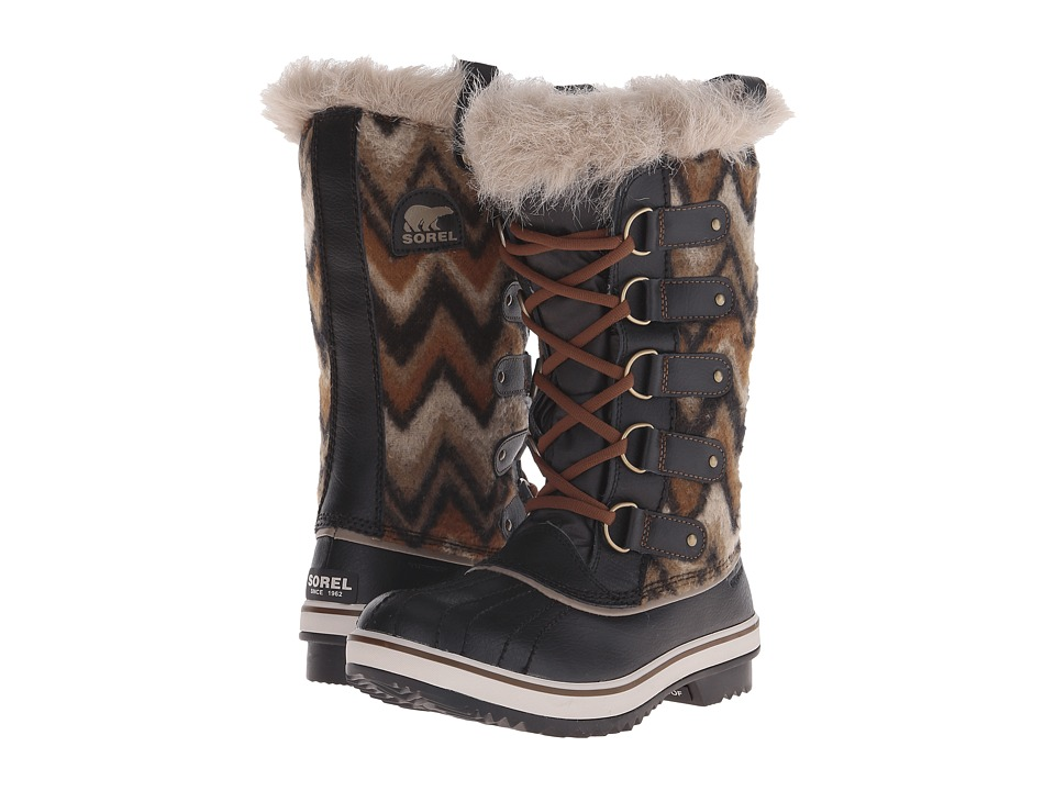 SOREL - Tofino Cate (Black Chevron) Women's Cold Weather Boots