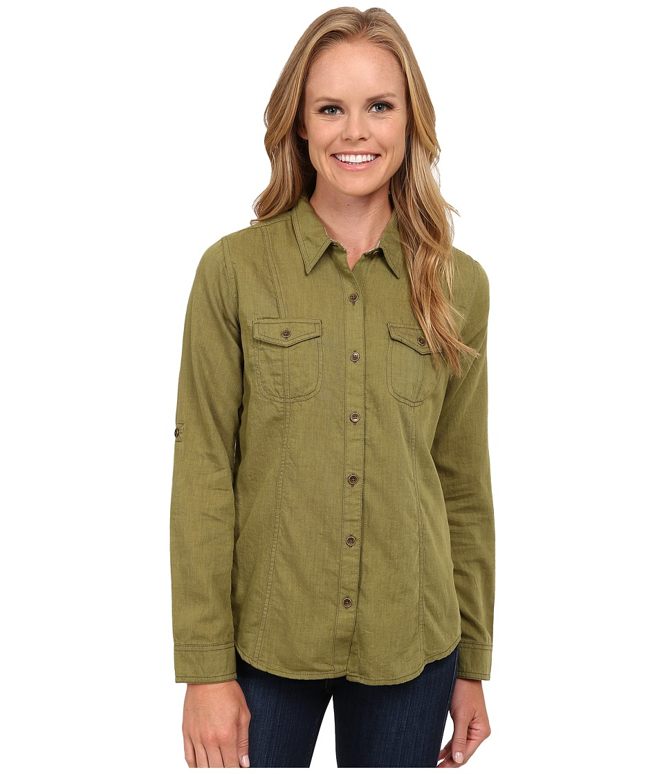 Royal Robbins - Sugar Pine Twill Long Sleeve Top (Spanish Moss) Women's Long Sleeve Button Up