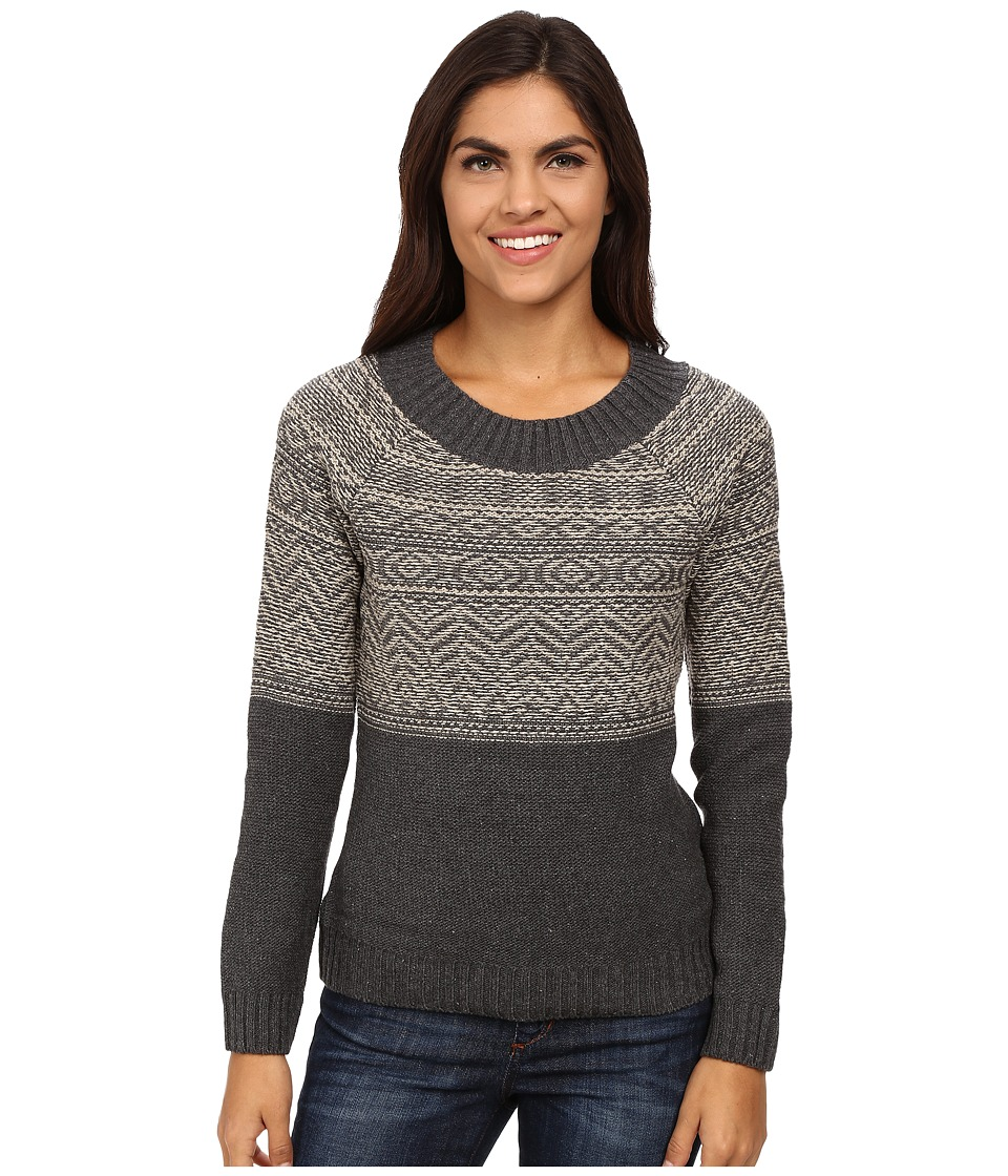 Royal Robbins - Three Seasons Long Sleeve Crew Neck Pullover (Charcoal) Women's Sweater