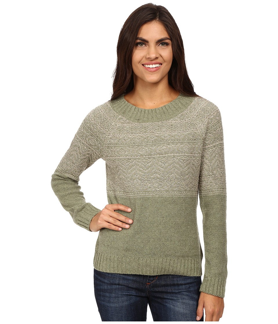 Royal Robbins - Three Seasons Long Sleeve Crew Neck Pullover (Aloe) Women's Sweater