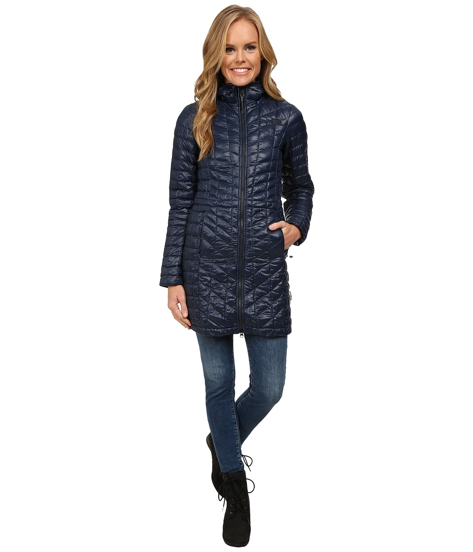 The North Face - ThermoBall Hooded Parka (Urban Navy) Women's Coat