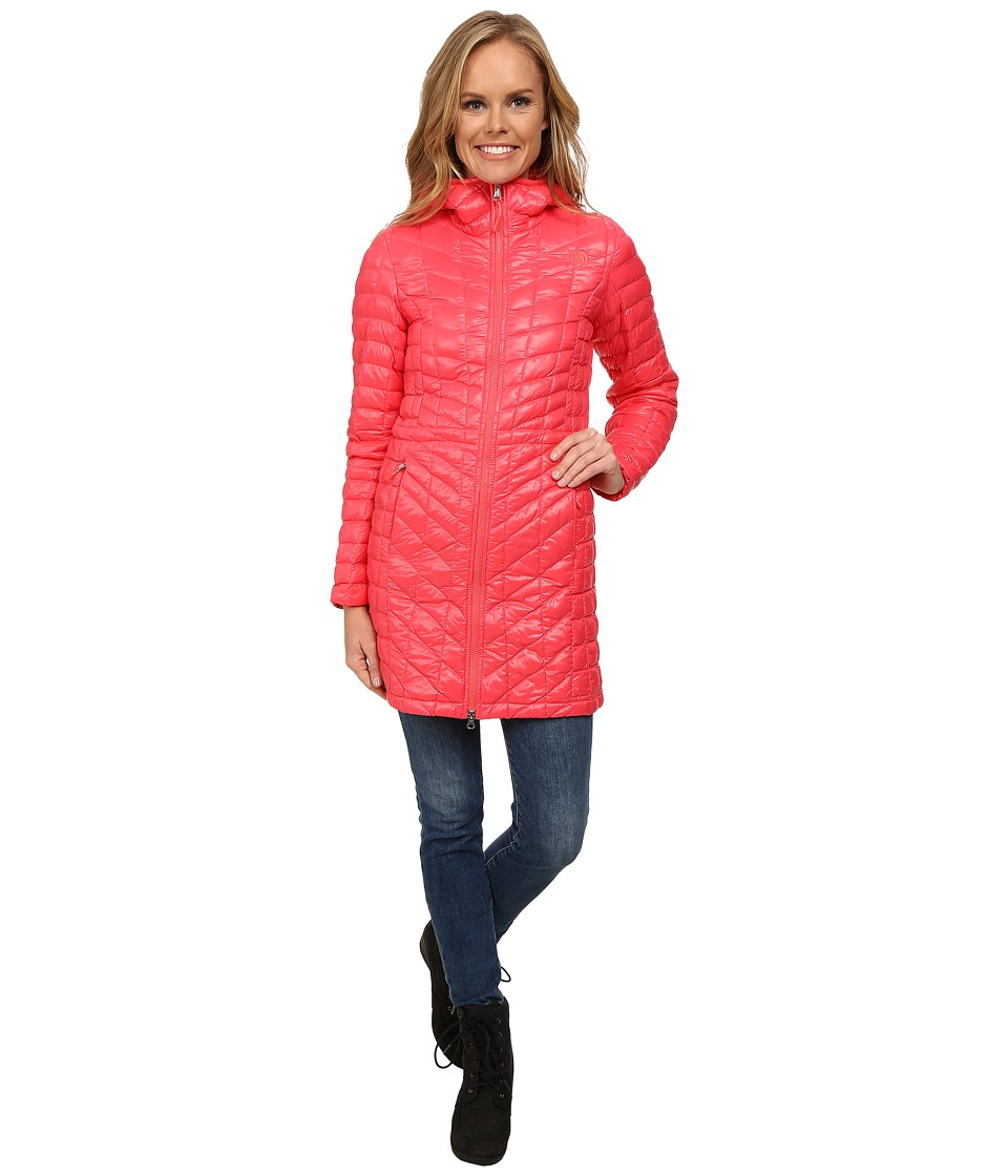 The North Face - ThermoBall Hooded Parka (Snowcone Red) Women's Coat