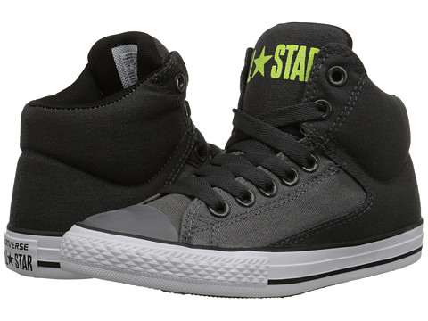 Converse Kids - Chuck Taylor All Star High Street Hi (Little Kid/Big Kid) (Storm Wind/Thunder/Safety Yellow) Boys Shoes