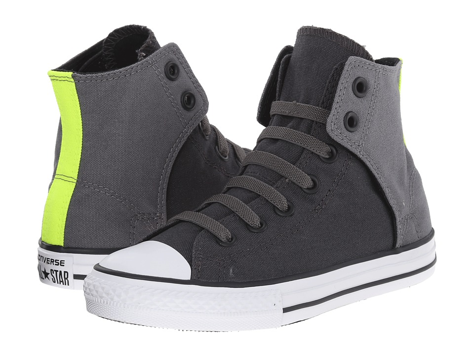 Converse Kids - Chuck Taylor All Star Easy Hi (Little Kid/Big Kid) (Storm Wind/Thunder/Safety Yellow) Boy's Shoes