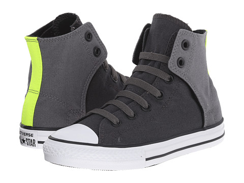 Converse Kids - Chuck Taylor All Star Easy Hi (Little Kid/Big Kid) (Storm Wind/Thunder/Safety Yellow) Boy