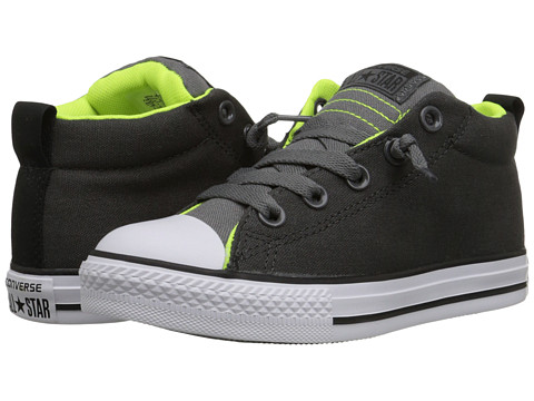 Converse Kids - Chuck Taylor All Star Street Mid (Little Kid/Big Kid) (Storm Wind/Thunder/Safety Yellow) Boys Shoes