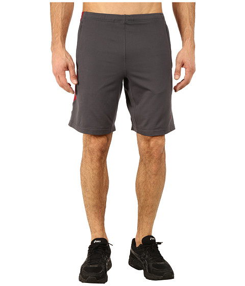 ASICS - Thermopolis Shorts 10 (Dark Grey/Deep Ruby) Men's Shorts