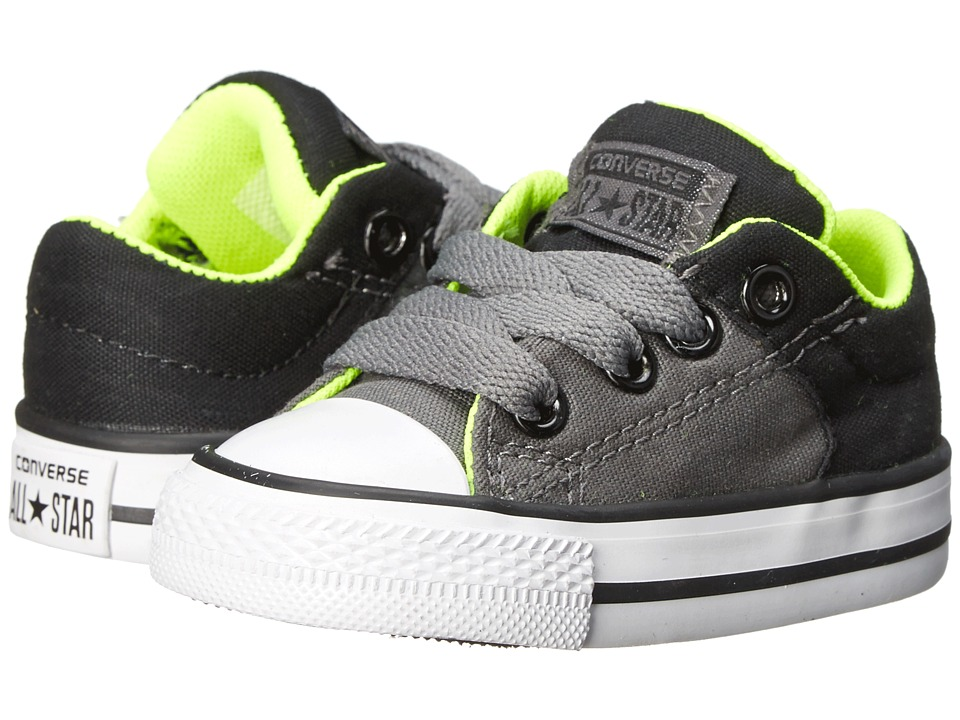 Converse Kids - Chuck Taylor All Star High Street Slip (Infant/Toddler) (Thunder/Safety Yellow/Black) Boys Shoes