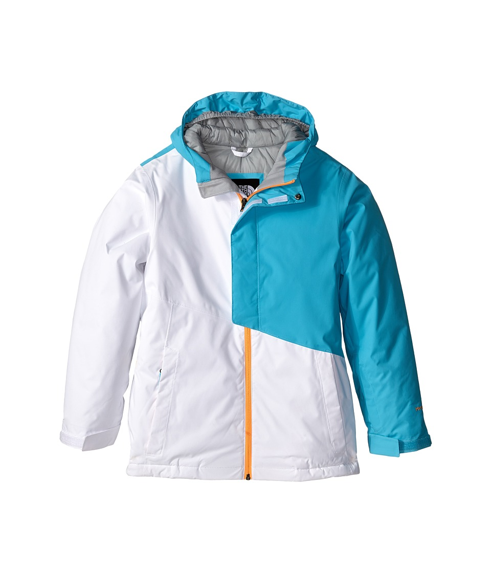 The North Face Kids - Insulated Casie Jacket (Little Kids/Big Kids) (TNF White/Fortuna Blue) Girl's Coat