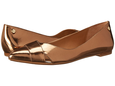 Calvin Klein - Gailia (Bronze Metallic Box) Women's Dress Flat Shoes