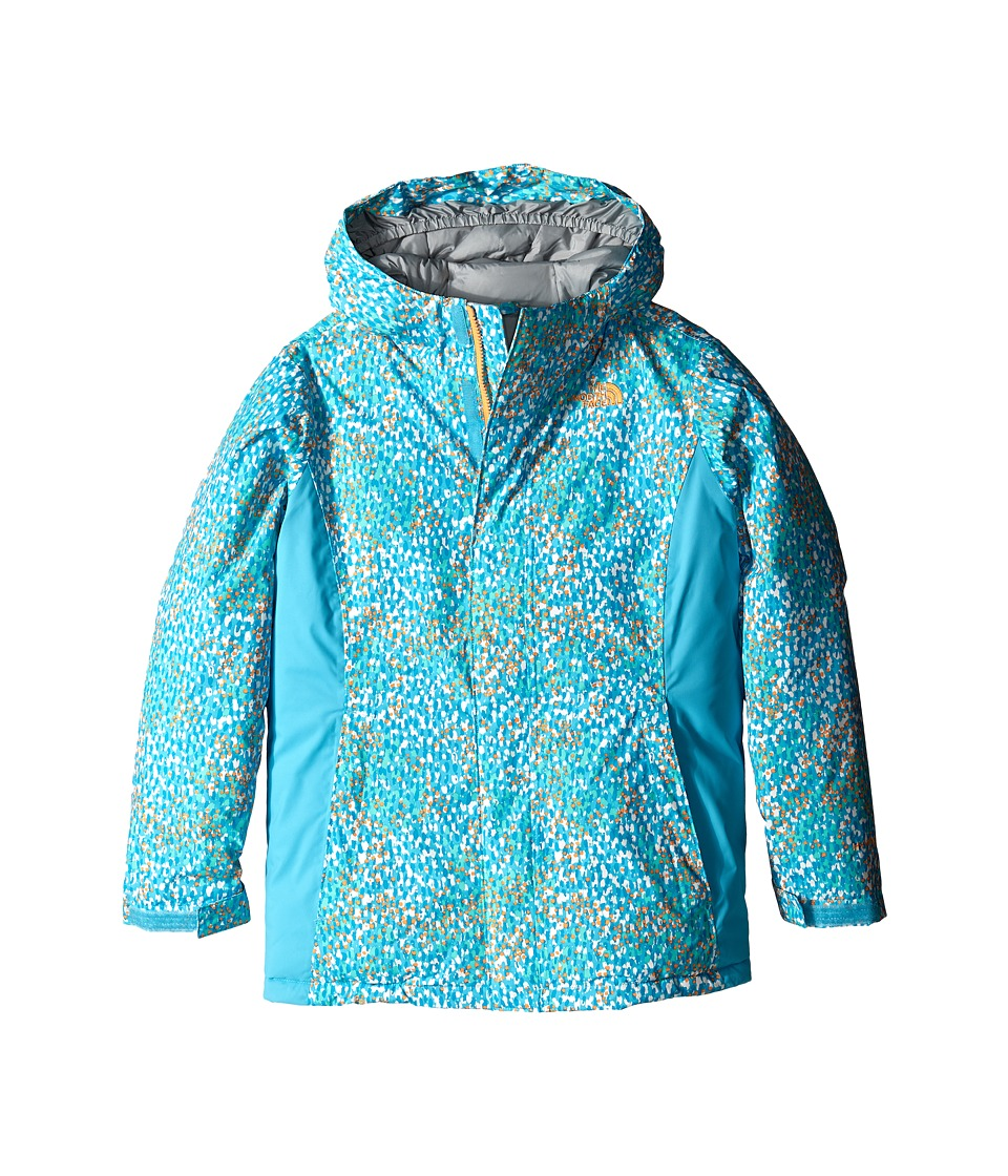 The North Face Kids - Delea Insulated Print Jacket (Little Kids/Big Kids) (Fortuna Blue Scatter Print) Girl's Coat