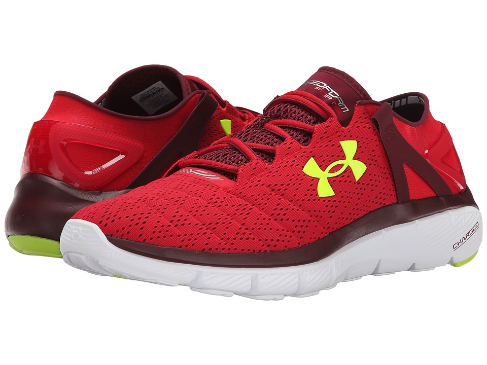 Under Armour - UA Speedformtm Fortis (Red/White/High-Vis Yellow) Men's Running Shoes