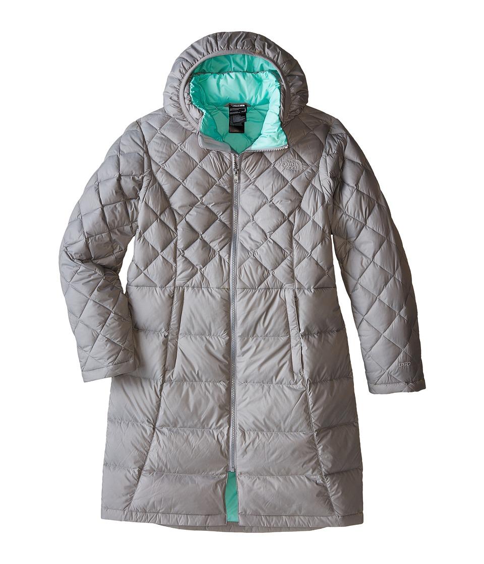 The North Face Kids - Metropolis Down Jacket (Little Kids/Big Kids) (Metallic Silver) Girl's Coat